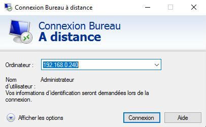 windows server ou windows connexion bureau à distance