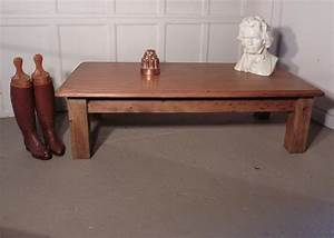 large victorian pine farmhouse coffee table antiques atlas With large farmhouse coffee table
