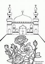 Coloring Islamic Ramadan Mosque Gambar Masjid Printable Sketsa Mewarnai Mechet Sheets Coloriage Islam Naruto Raskraski Mosques Eid Terbaru Rose1 Bunch sketch template