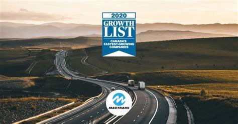 Mactrans Logistics Inc. Ranks 264th on the 2020 Growth ...