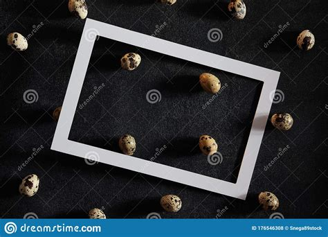 The mockup uses smart object layers for customization with simple steps which ta развернуть. Quail Eggs On Old Dark Background With White Paper Frame ...