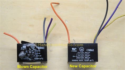 cbb61 ceiling fan capacitor how to replace a ceiling fan motor capacitor