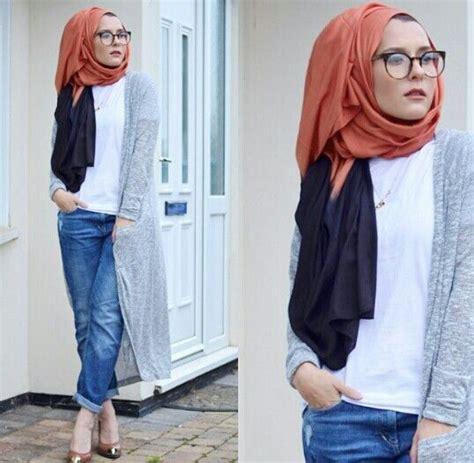 dina tokio boyfriend jeans hijab fashion hijab