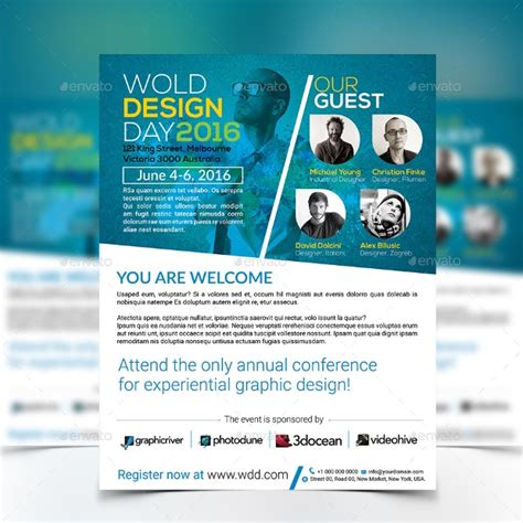 conference flyer designs psd  design trends