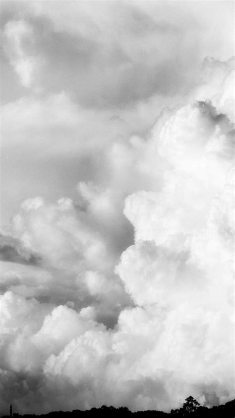 black  white clouds nature skyscapes wallpaper