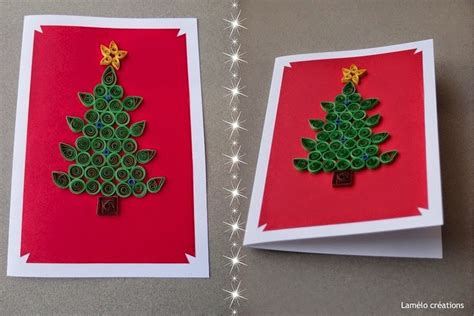christmas tree greeting card design paper quilling crafts