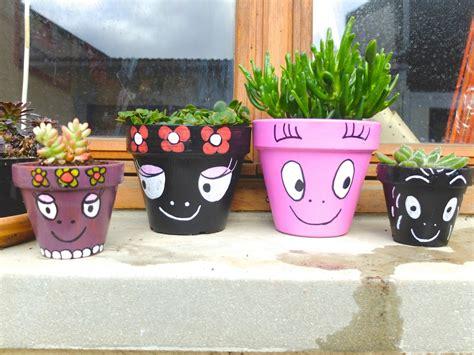 Pot De Fleur En Terre Decore by Mes Pots De Fleurs Barbapapa Markers