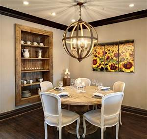 triptych wall art dining room rustic with built in shelves With rustic dining room wall decor
