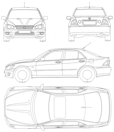 lexus is300 drawing 자동차 lexus is 400 인물의 이미지를 축소판 그림 이미지를 차에 schematize