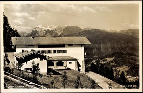 Postcard Obersalzberg Berchtesgaden, Hitler Haus, Berge
