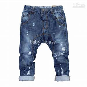 2013 New Children Boys And Girls Hole Paint Jeans Denim Trousers 7 Jeans For Kids Cheap ...