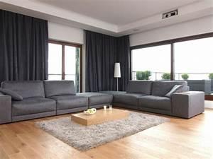 Graue Couch Wohnzimmer : wohnzimmer einrichten graues sofa ~ Michelbontemps.com Haus und Dekorationen