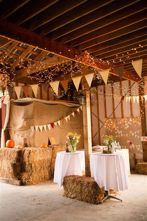 fall decor barn venues interior decor wedding reception lighting farm wedding wedding