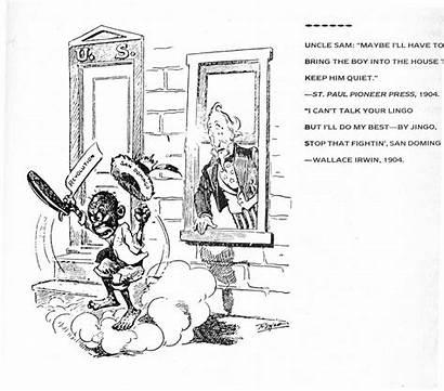 Uncle Sam Doctrine Monroe Political Cartoons Domingo