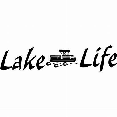 Lake Decal Pontoon Boat Fishing Window Wall