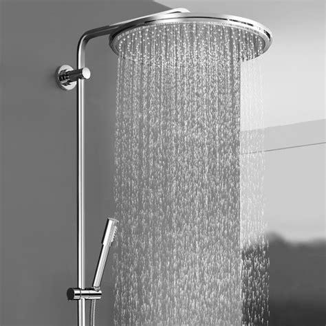 grohe rainshower 400 grohe rainshower system 400 duschsystem mit thermostatbatterie f 252 r die wandmontage 27174001