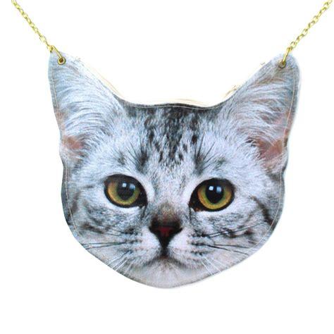 Realistic Tabby Kitty Cat Head Shaped Vinyl Animal Themed