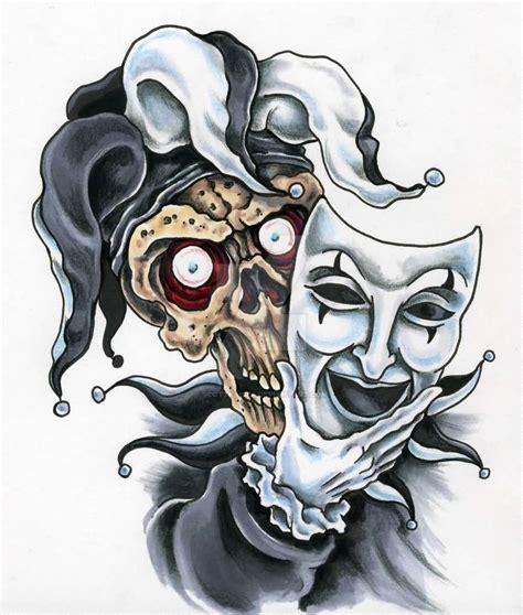 amazing jester tattoo designs