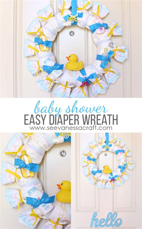 Baby Shower For - craft baby shower wreath best crafts on