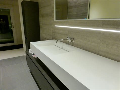 Linear Bathroom Lighting by Recessed Led Linear Light Contemporary Bathroom San