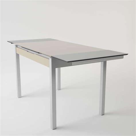 table de cuisine en verre extensible avec tiroir camel