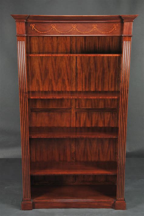 Mahogony Bookcase by Open And Inlaid Mahogany Bookcase