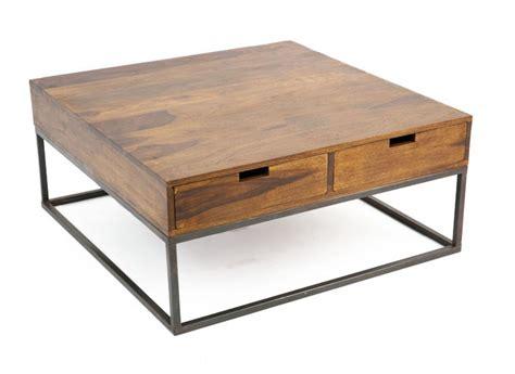 canapé lit en fer forgé table basse design industriel 4 tiroirs bois et fer crispy
