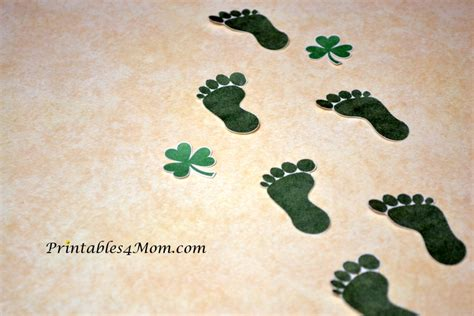 printable leprechaun feet  st patricks day