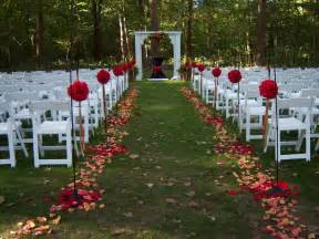 outside wedding decorations weddingspies fall outdoor wedding fall outdoor wedding ideas