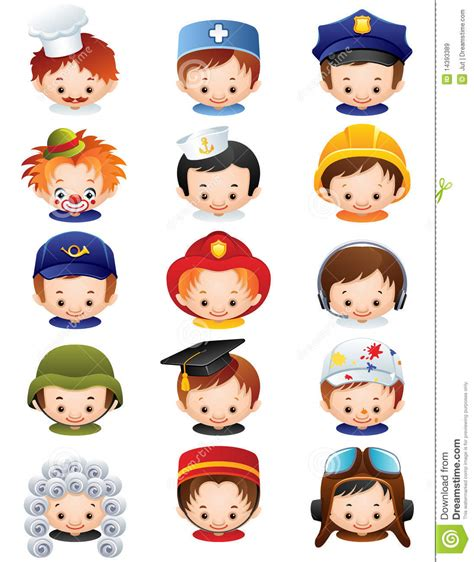 12202 different professions clipart occupation icons stock vector image of occupation