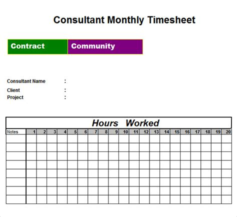 sample time sheet templates   ms word excel