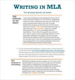 MLA Format Essay Template