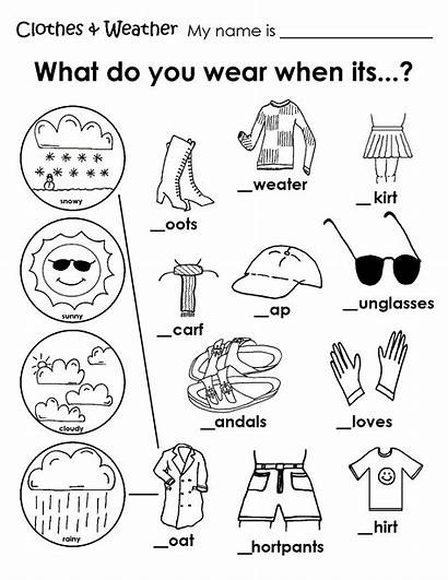 Summer Worksheet Clothes Worksheets Coloring Pages