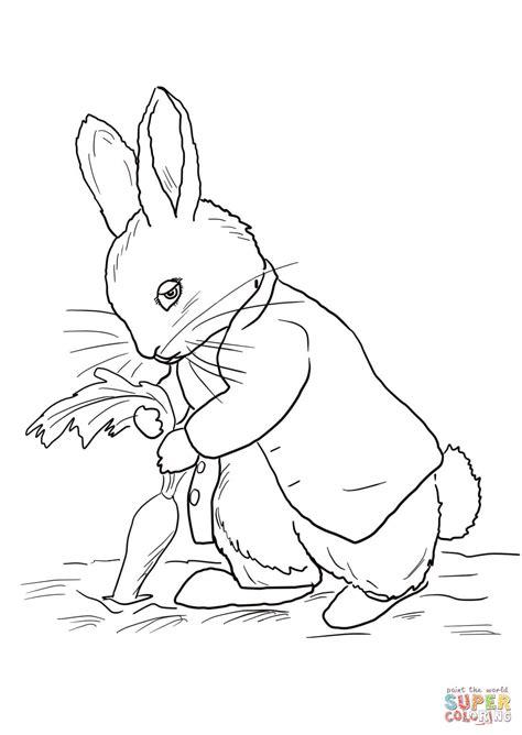 ausmalbild peter rabbit stiehlt karotten ausmalbilder