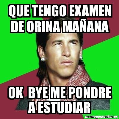 Memes De Ok - meme sergio ramos que tengo examen de orina ma 241 ana ok bye me pondre a estudiar 1730478