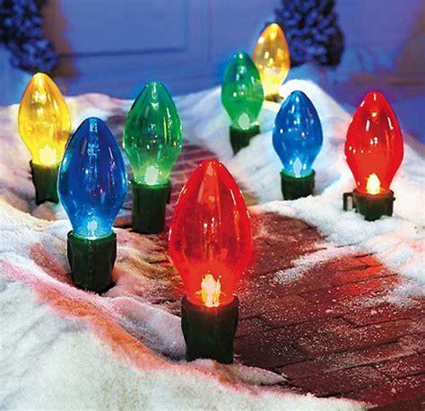 giant bulb outdoor christmas lights  green head