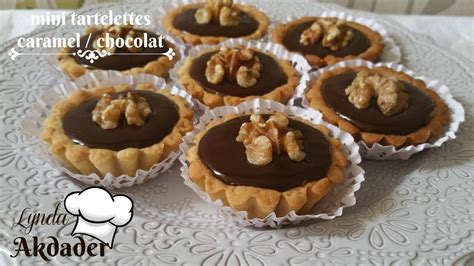 mini tartelettes caramel et chocolat ganache de chocolat