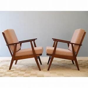 Fauteuil Vintage Scandinave : paire fauteuils vintage scandinave design annee 60 la ~ Dode.kayakingforconservation.com Idées de Décoration