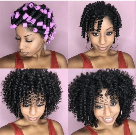 Rod Hairstyles Black Hair by Perm Rods On Hair Curly Hairstyles For Black