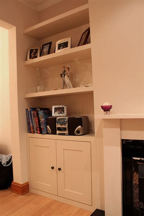 Living Room Cupboard by Fitted Alcoves Cupboard With Floating Shelves Chiswick