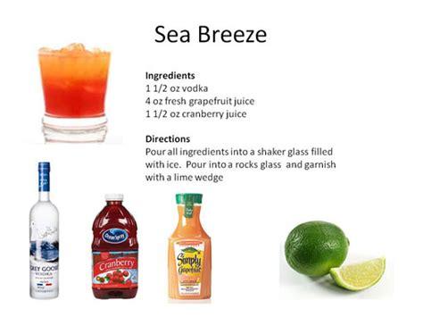 seabreeze drink hawaiian sea breeze recipe