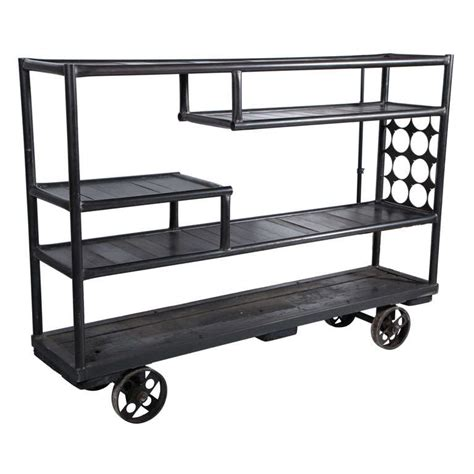 mid century industrial rolling shelf cart at 1stdibs