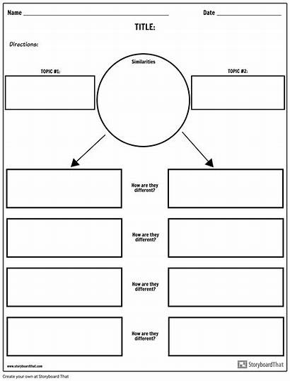 Contrast Compare Chart Worksheet Worksheets Example Templates