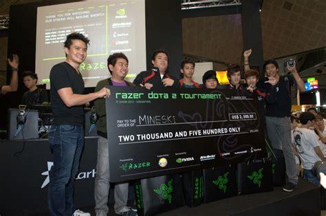 mineski crowned razer dota  tournament champions