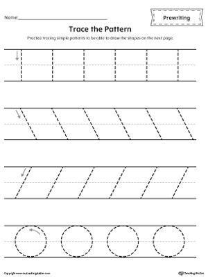 pre writing  tracing workbook motor skills