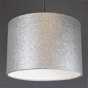 Glitter lampshade choice of colours by quirk for Silver glitter floor lamp