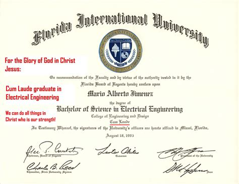 mario  fiu bachelor  science  electrical engineering