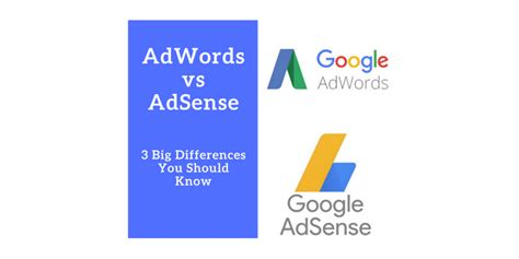 adwords adsense 3 big differences that you should