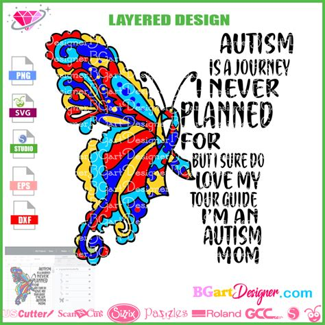 Make a wide variety of diy crafts, decor, paper projects and more with an svg file. lllᐅDownload Autism butterfly svg - gift diy t-shirt ...