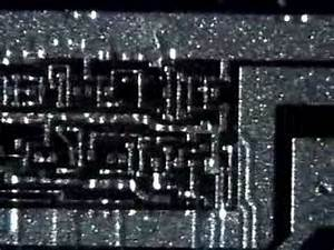 Silicon computer chip with 1000s of transistors - YouTube